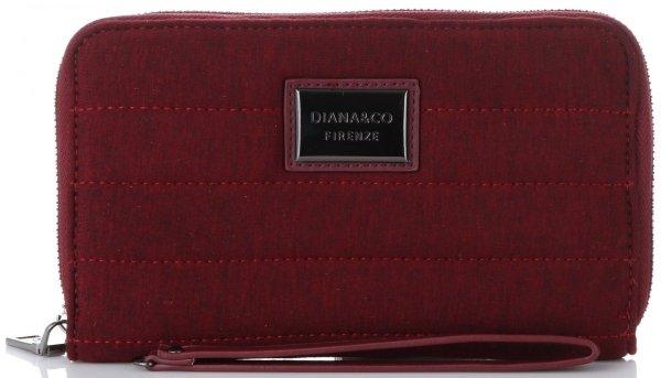 b4d3554682e6e Modny Portfel Damski Diana amp Co Firenze typu Piórnik Etui na Karty z  paskiem w rozmiarze