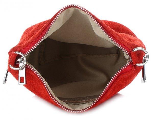 2ea7ae82485ae Uniwersalne Torebki Listonoszki Skórzane firmy Genuine Leather Czerwona