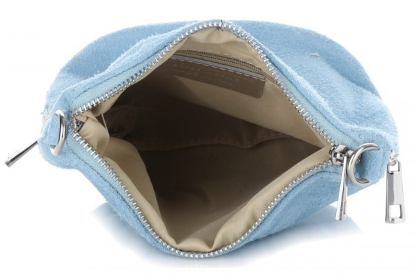 f4d9afa8345cd Uniwersalne Torebki Listonoszki Skórzane firmy Genuine Leather Błękitna