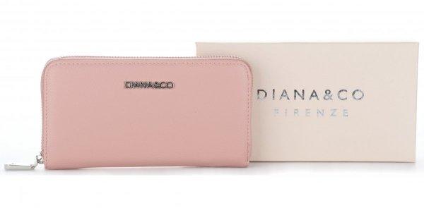 6d2c299a120fe Klasyczny Portfel Damski Diana&Co Firenze Pudrowy Róż - Panitorbalska.pl