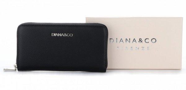 bb7d6a5a07488 Klasyczny Portfel Damski Diana Co Firenze Czarny - Panitorbalska.pl