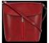 Klasická Kožená Kabelka Listonoška Vittoria Gotti Made in Italy Červená