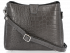 Kožená Kabelka listonoška Vittoria Gotti s motivem aligátora Šedá