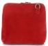 Vittoria Gotti Kožená kabelka listonoška červená