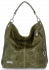 Vittoria Gotti Univerzální Kožené Dámské Kabelky motiv želvy Zelená