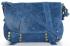Vittoria Gotti Torebka Skórzana Klasyczna Listonoszka do noszenia na co dzień Niebieska