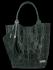 Modne Torebki Skórzane Shopper Bag XL z Etui firmy Vittoria Gotti Butelkowa Zieleń