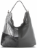 Włoska Uniwersalna Torba Skórzana w rozmiarze XL w modne wzory Szara
