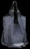 Modne Torebki Skórzane Shopper Bag z Frędzlami firmy Vittoria Gotti Ciemno Szara