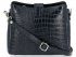 Eleganckie Torebki Skórzane Listonoszki firmy Vittoria Gotti w motyw Aligatora Granat