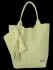 Modne Torebki Skórzane Shopper Bag XL z Etui firmy Vittoria Gotti Limonka