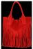 Firmowy Włoski Shopper w stylu Boho Vittoria Gotti Czerwona