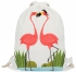 Plecaczki Damskie Praktyczny Worek w modny wzór flamingów love Biały