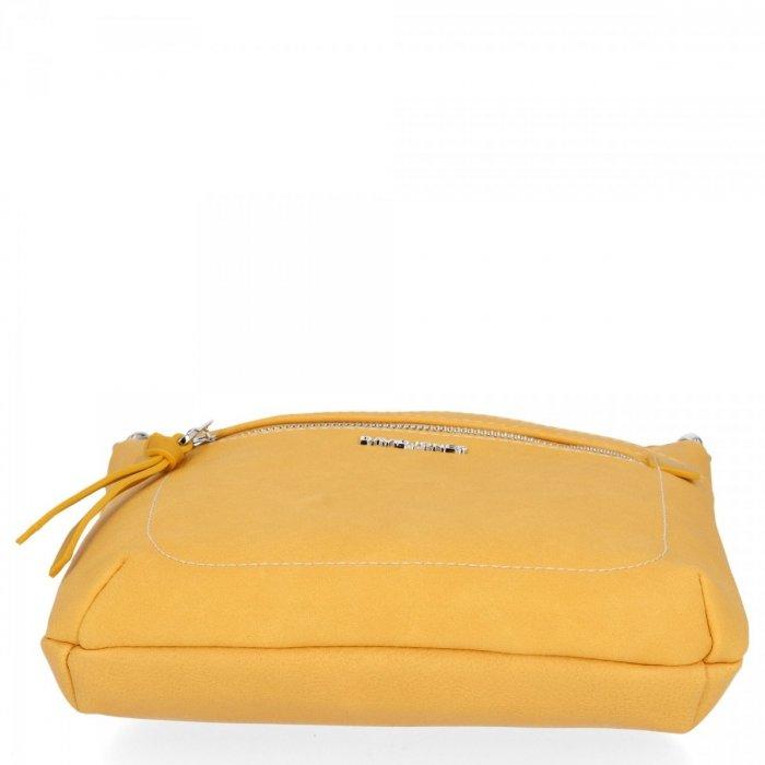Uniwersalne Listonoszki Damskie do noszenia na co dzień firmy David Jones Żółta