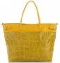 Uniwersalna Torba Skórzana XXL firmy Vittoria Gotti Made in Italy Żółta