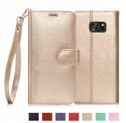 FYY Samsung Galaxy S7 Edge - Etui book case ze smyczką (gold)
