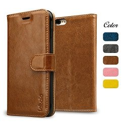 Labato Etui Futerał Wallet Case Apple iPhone 6/6S 4.7 (brązowy)