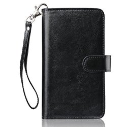 FYY Samsung Galaxy NOTE 3 - Etui book case ze smyczką i miejscem na 9 kart (black)