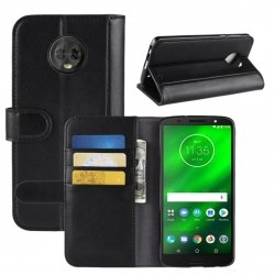 Skórzane etui book case wallet MOTO G6 PLUS