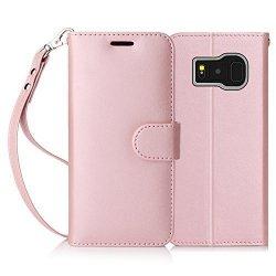 FYY Samsung Galaxy S8+ PLUS - Etui book case ze smyczką (pink)