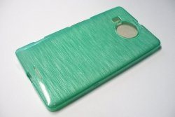 Metalic Jelly Cover Brushed - etui silikonowe do Lumia 950 XL (zielony)