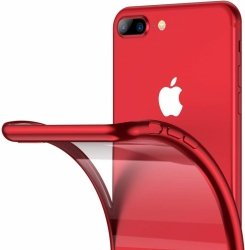 ETUI ELEGANCE PLATE iPHONE 7 /8 (4.7) + SZKŁO (czerwony)