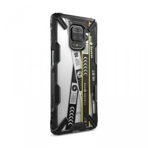 Ringke Fusion X Design etui pancerny pokrowiec z ramką Xiaomi Redmi Note 9 Pro / Redmi Note 9S czarny (XDXI0010)