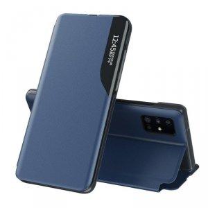 Eco Leather View Case elegancki futerał etui z klapką i funkcją podstawki Huawei P40 niebieski