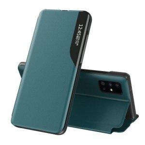 Eco Leather View Case elegancki futerał etui z klapką i funkcją podstawki Huawei P40 zielony