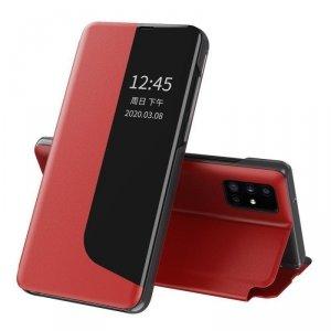 Eco Leather View Case elegancki futerał etui z klapką i funkcją podstawki Huawei P40 Pro czerwony