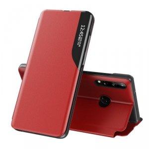 Eco Leather View Case elegancki futerał etui z klapką i funkcją podstawki Huawei P40 Lite E czerwony