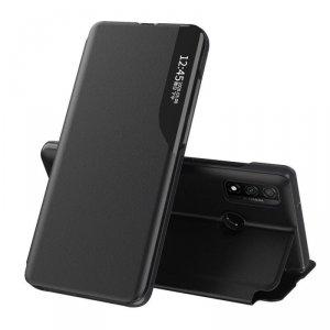 Eco Leather View Case elegancki futerał etui z klapką i funkcją podstawki Huawei P Smart 2019 czarny