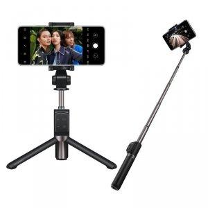 Huawei 2w1 AF15 Pro Selfie Stick + Tripod teleskopowy statyw Bluetooth czarny