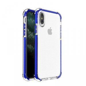 Spring Armor żelowy elastyczny pancerny pokrowiec z kolorową ramką do iPhone SE 2020 / iPhone 8 / iPhone 7 niebieski