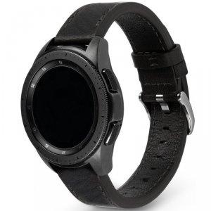 Ringke Leather One Classic skórzana bransoleta opaska pasek do zegarka smartwatch Samsung Galaxy Watch 3 41 mm czarny (COM-B-20-