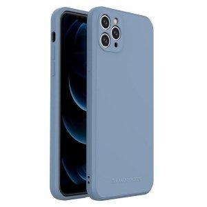 Color Case silikonowe elastyczne wytrzymałe etui iPhone 11 Pro Max niebieski