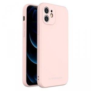 Color Case silikonowe elastyczne wytrzymałe etui iPhone 8 Plus / iPhone 7 Plus różowy