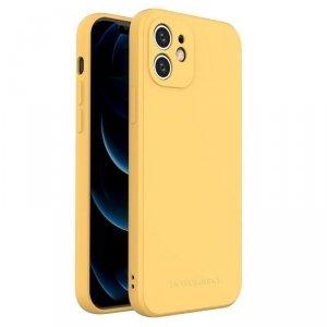 Color Case silikonowe elastyczne wytrzymałe etui iPhone 8 Plus / iPhone 7 Plus żółty