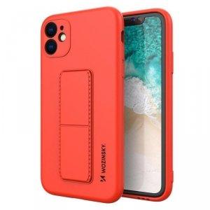 Kickstand Case elastyczne silikonowe etui z podstawką iPhone SE 2020 / iPhone 8 / iPhone 7 czerwony