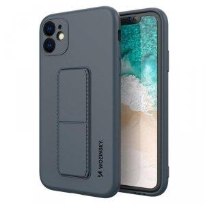 Kickstand Case elastyczne silikonowe etui z podstawką iPhone 11 Pro Max granatowy