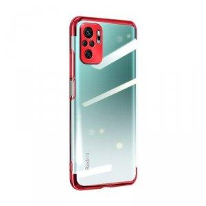Clear Color case żelowy pokrowiec etui z metaliczną ramką Xiaomi Redmi Note 10 Pro czerwony