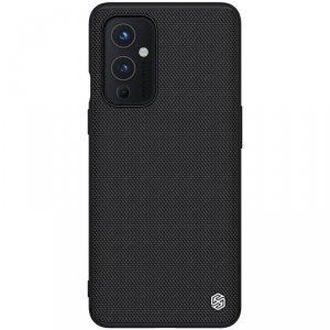 Nillkin Textured Case wytrzymałe wzmocnione etui z żelową ramką i nylonem na tyle OnePlus 9 czarny