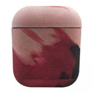 Watercolor AirPods Case kolorowe etui hard case do AirPods 2 / AirPods 1 czerwony