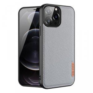 Dux Ducis Fino etui pokrowiec pokryty nylonowym materiałem iPhone 13 Pro Max szary