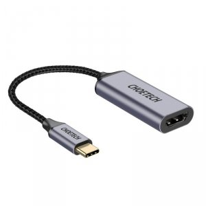 Choetech przejściówka adapter HUB USB Typ C (męski) na HDMI (żeński) 4K 60Hz szary (HUB-H10)