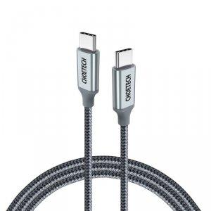 Choetech kabel przewód USB Typ C - USB Typ C 5A 100 W Power Delivery 480 Mbps 1,8 m szary (XCC-1002-GY)