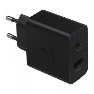 Samsung Fast Duo szybka ładowarka sieciowa USB / USB Typ C Power Delivery 3.0 Quick Charge 2.0 35W 3A czarny (EP-TA220NBEGEU)