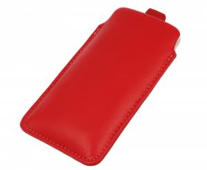 Pionowa skórzana wsuwka Vena SAMSUNG  NOTE 2/ 3/ 4/ IPHONE XR / 11 czerwona