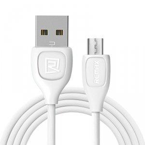 Kabel Micro USB 3A 1m Szybkie Ładowanie Remax LESU biały