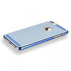 Etui X-FITTED Hard case IPHONE 6+ Zebra niebieskie PPLDL